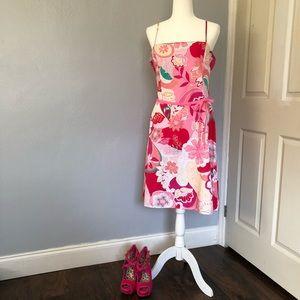 New York & Company pink floral sundress size 14
